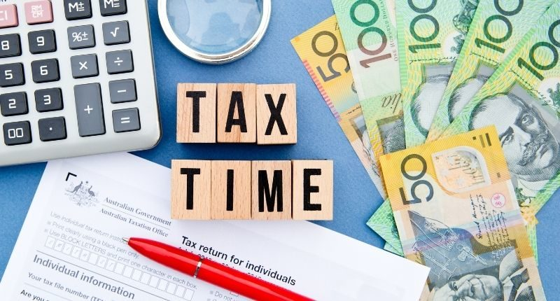 tax time blocks with australian tax office forms
